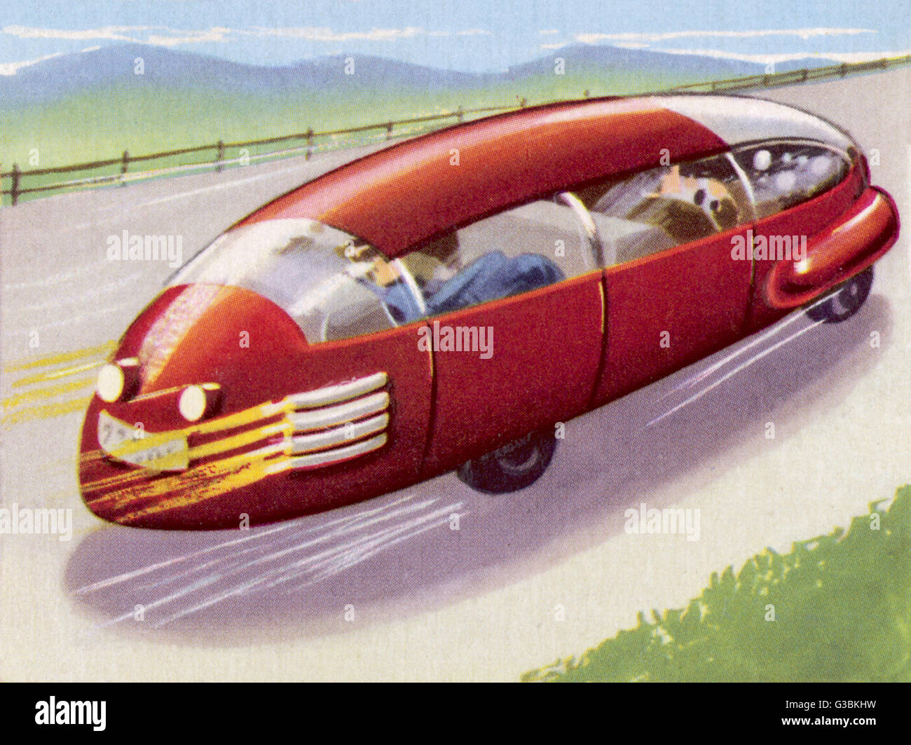 AUTOMOBILE DRIVEN BY ATOMIC POWER        Date: circa 1950 - Stock Image