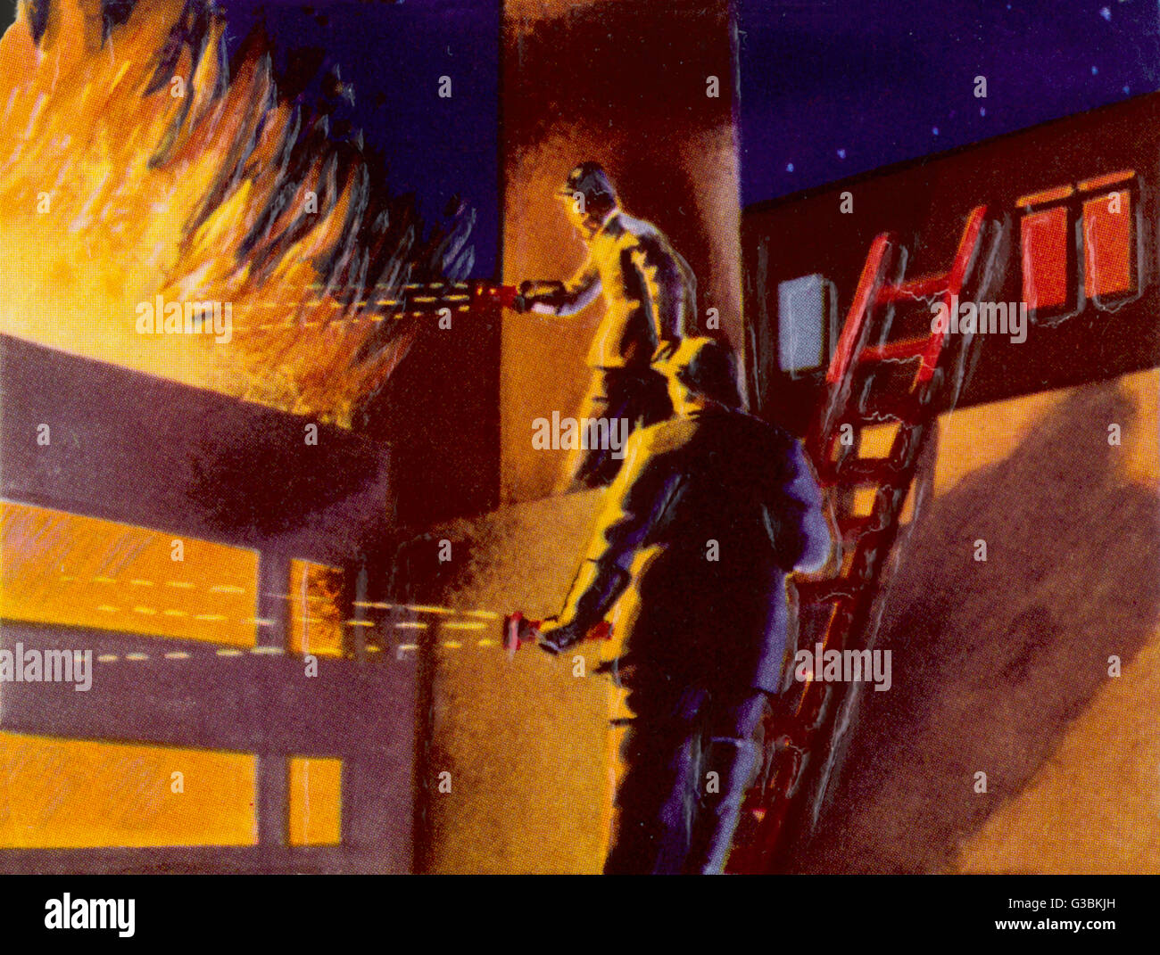 USING ATOMIC POWER TO FIGHT  FIRES        Date: circa 1950 - Stock Image