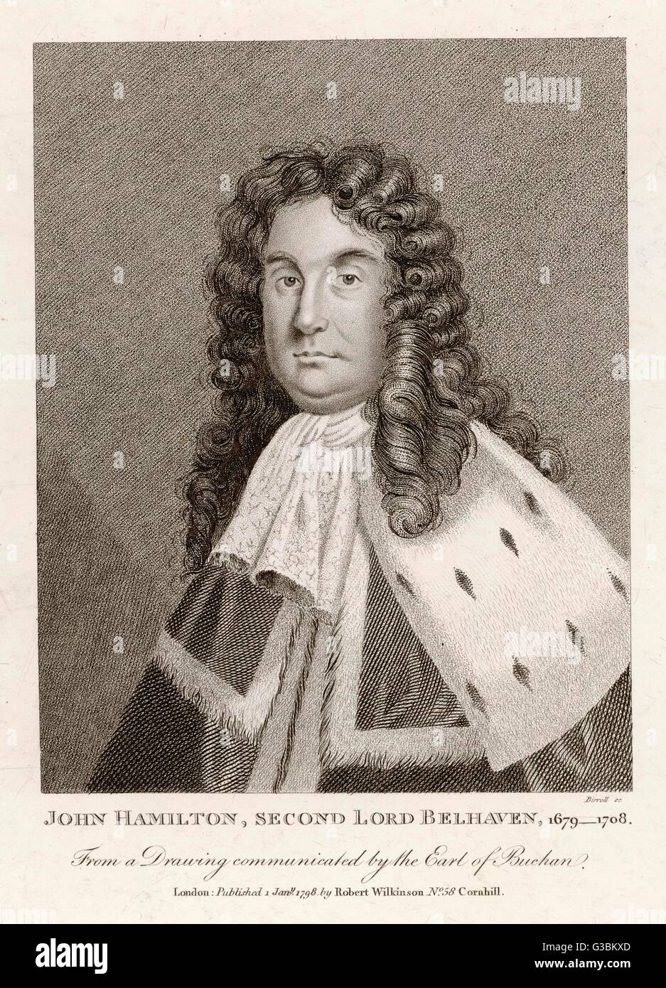 JOHN HAMILTON privy councillor who strongly  opposed the union of England  with Scotland       Date: 1679 - 1708 - Stock Image