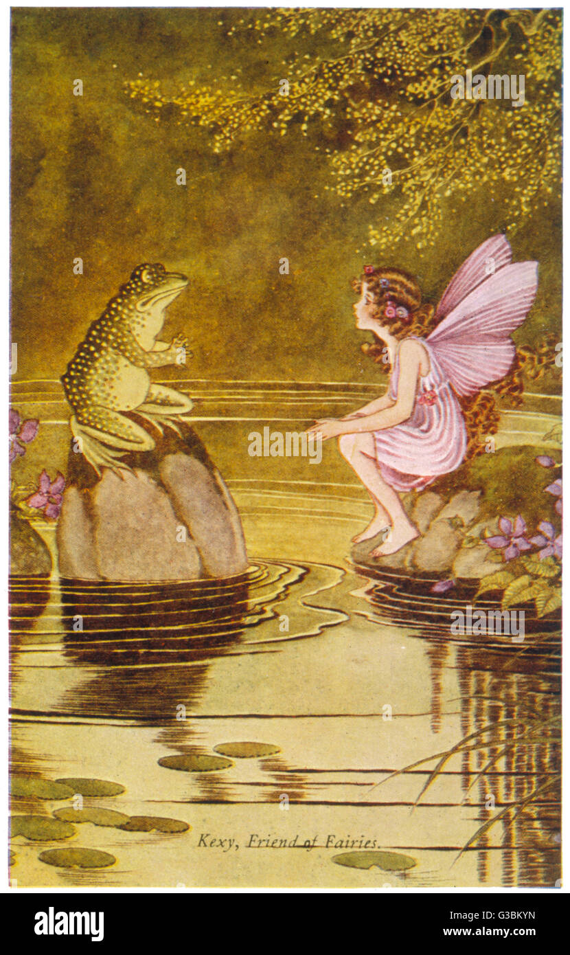 Kexy, friend of fairies          Date: late 19th century - Stock Image