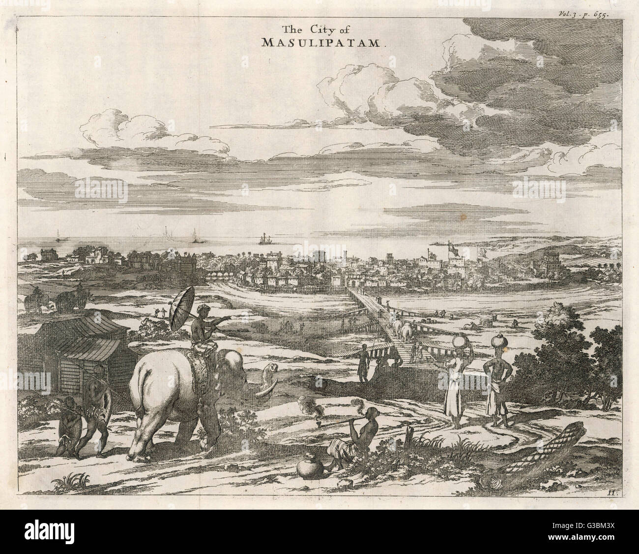 (or Machilipatnam) The first  British settlement on the  Calabar coast, in 1611 ; later  taken by the French but - Stock Image