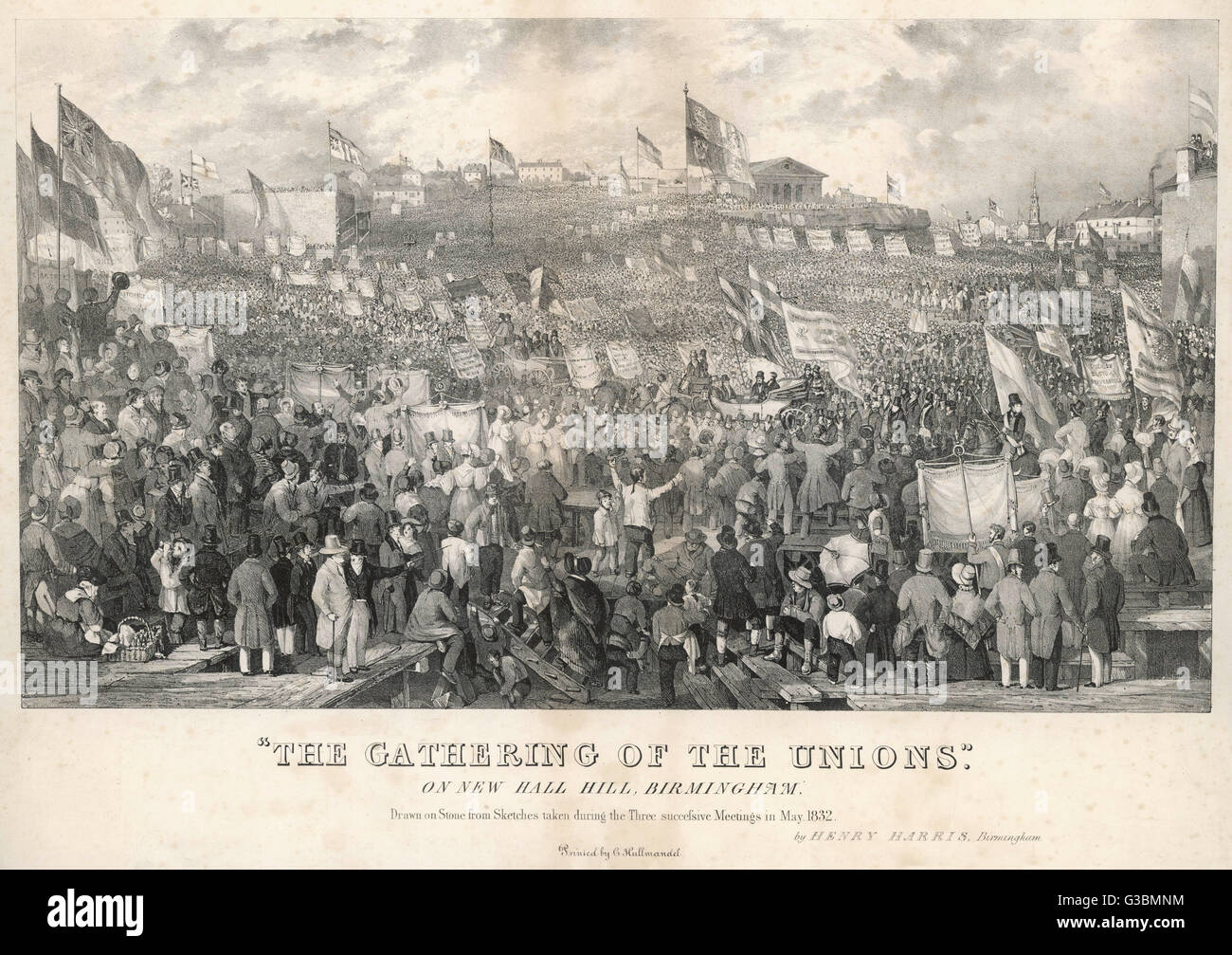 'THE GATHERING OF THE UNIONS' Three meetings organised by  the Birmingham Political  Union, held at New - Stock Image