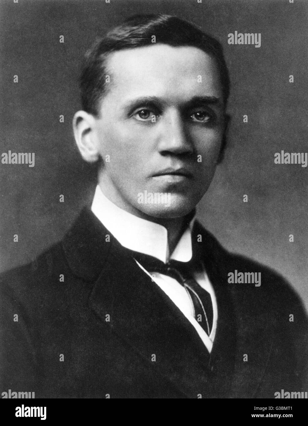 SIR ALEXANDER FLEMING - as a young man         Date: 1881 - 1955 - Stock Image