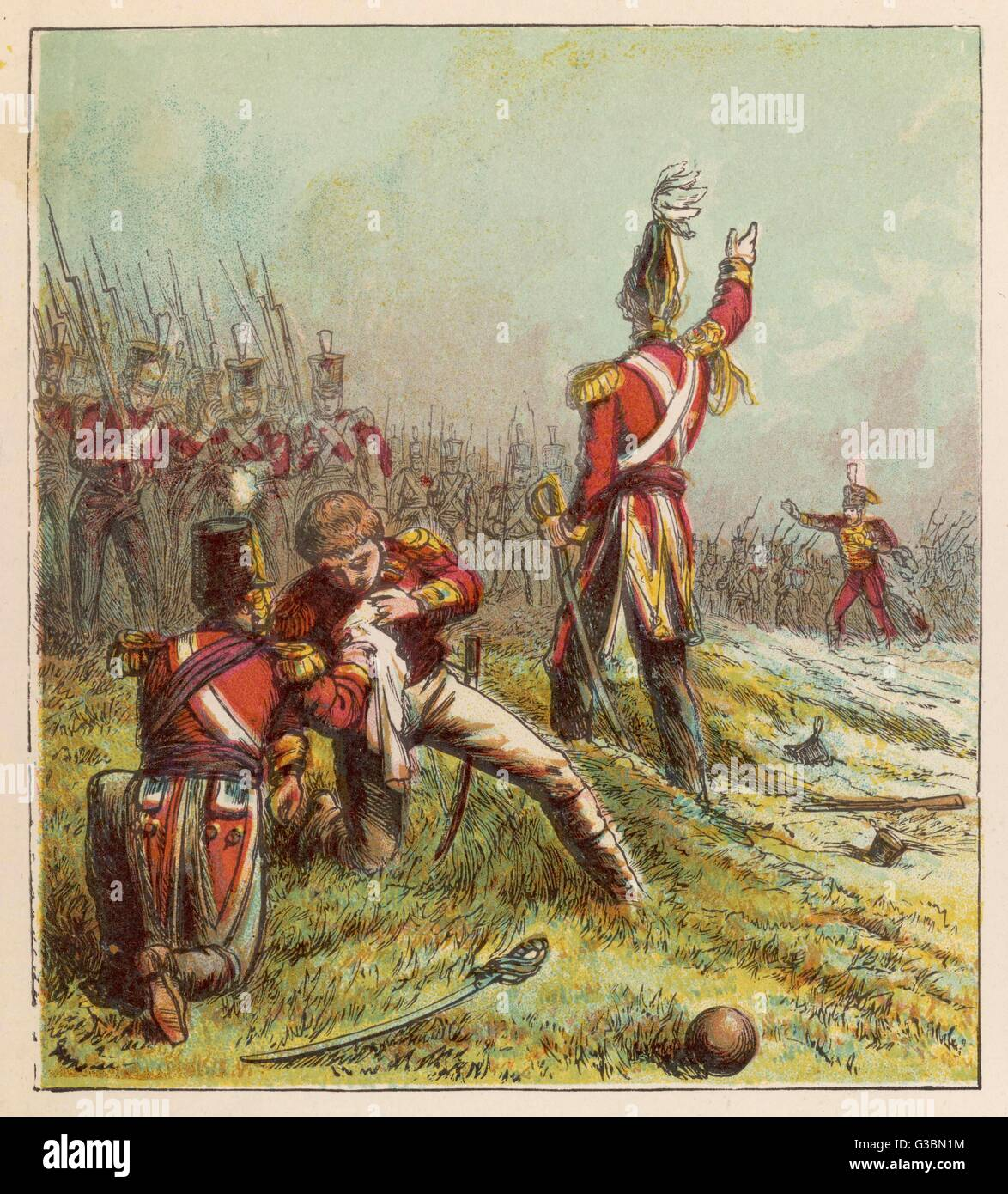 Sir John Moore, leading the  British against the French in  Spain, is killed at Corunna        Date: 17 January - Stock Image