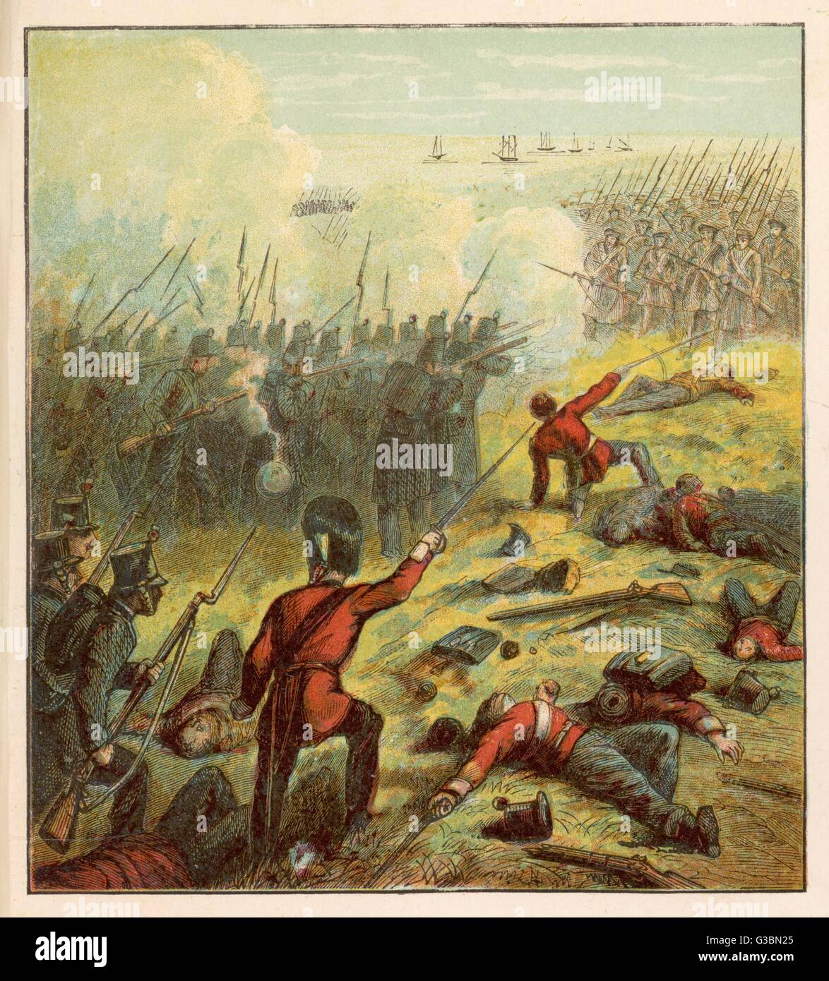 French and British armies lay  siege to Sebastopol defended,  ultimately in vain, by the  Russians      Date: 1855 - Stock Image