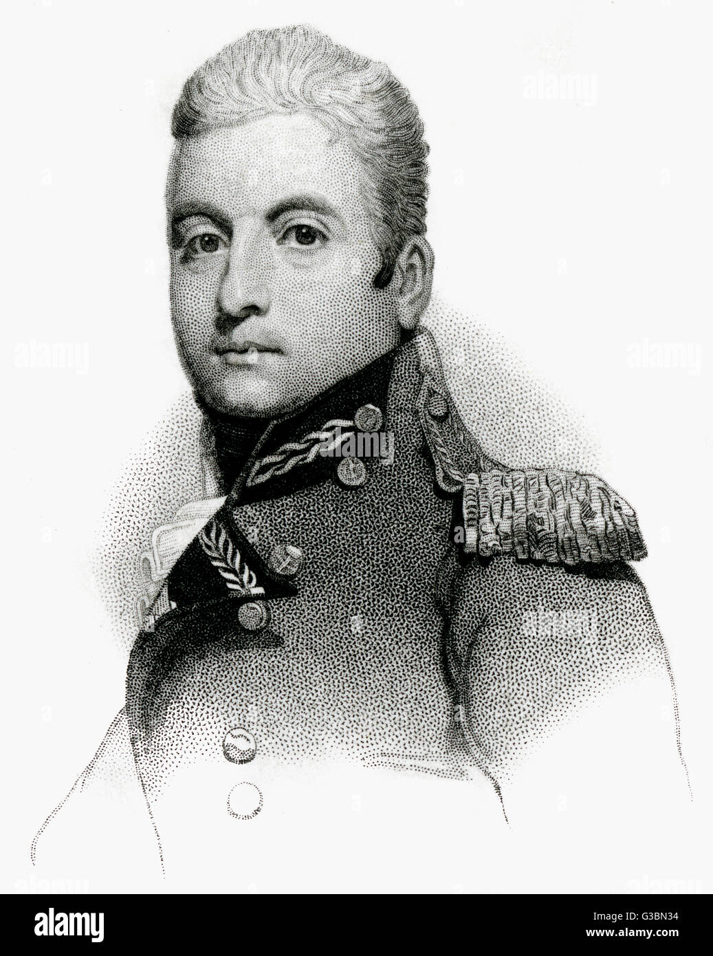 GEORGE fifth duke of GORDON Scottish military commander,  depicted while marquis of  Huntly.       Date: 1770 - - Stock Image