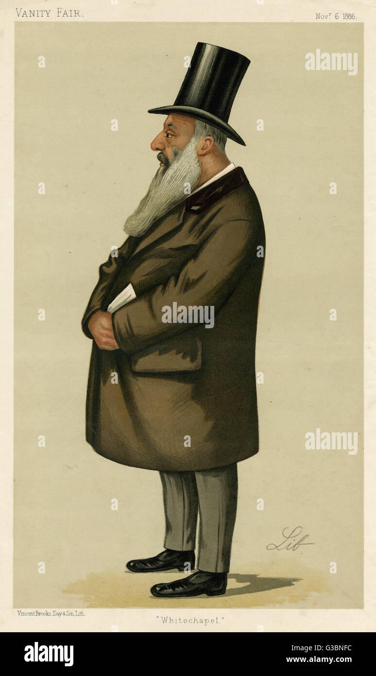 SAMUEL MONTAGU (born Montagu  Samuel) first baron Swaythling Jewish merchant banker in  London, statesman (MP for - Stock Image