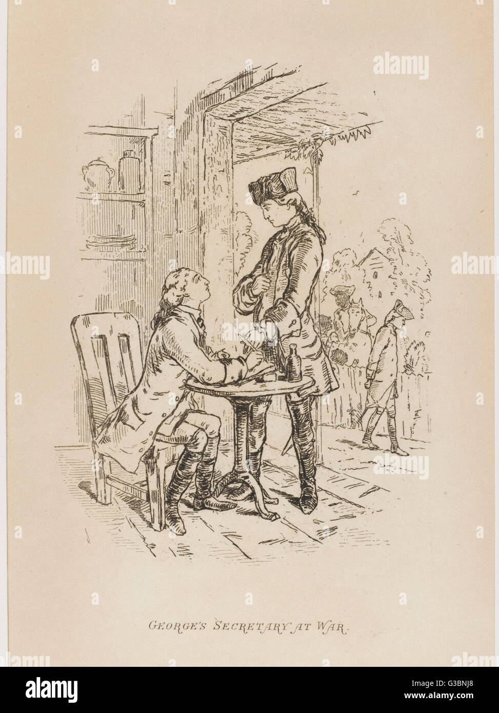 THE VIRGINIANS During the American  Revolutionary War, George  gives instructions to his  secretary.       Date: Stock Photo