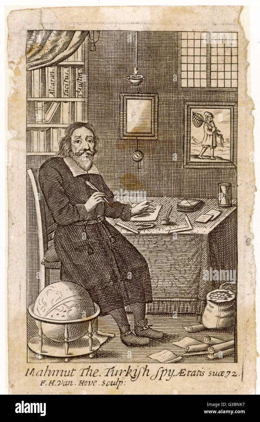 MAHMUT THE TURKISH SPY who is said to have written  letters from Paris between  1637 and 1682 to his people,  discussing - Stock Image