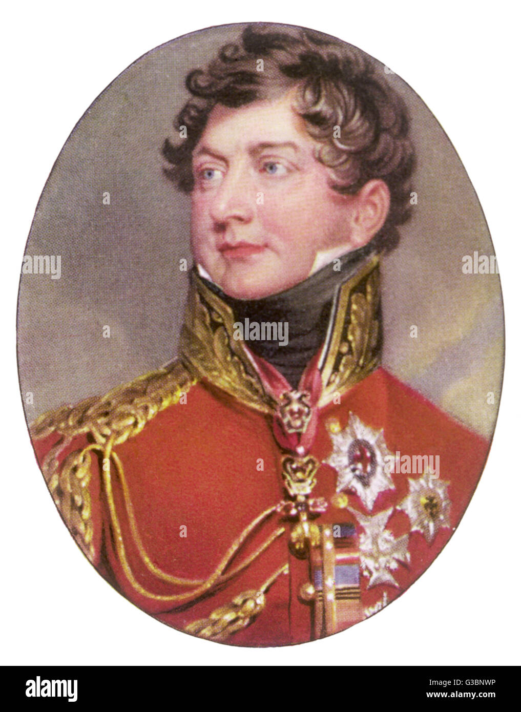KING GEORGE IV OF ENGLAND (1762 - 1830) Reigned 1820 - 1830 - Stock Image