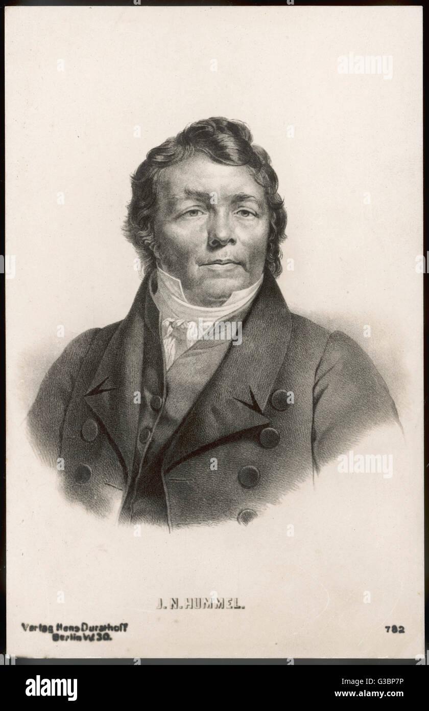 JOHANN NEPOMUK HUMMEL  German pianist and composer        Date: 1778 - 1837 - Stock Image