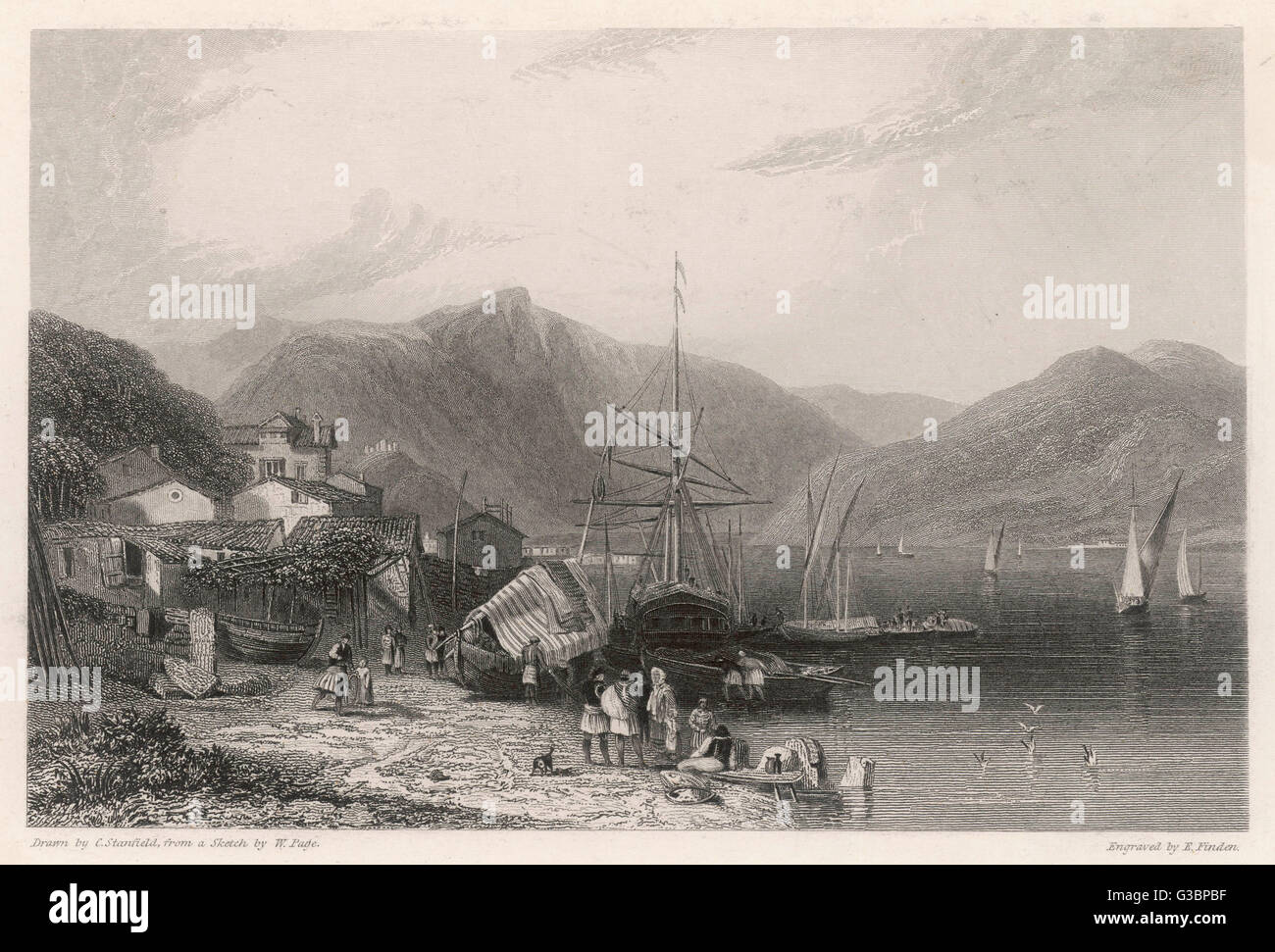 Ithaca, in the Ionian Sea         Date: 19th century - Stock Image