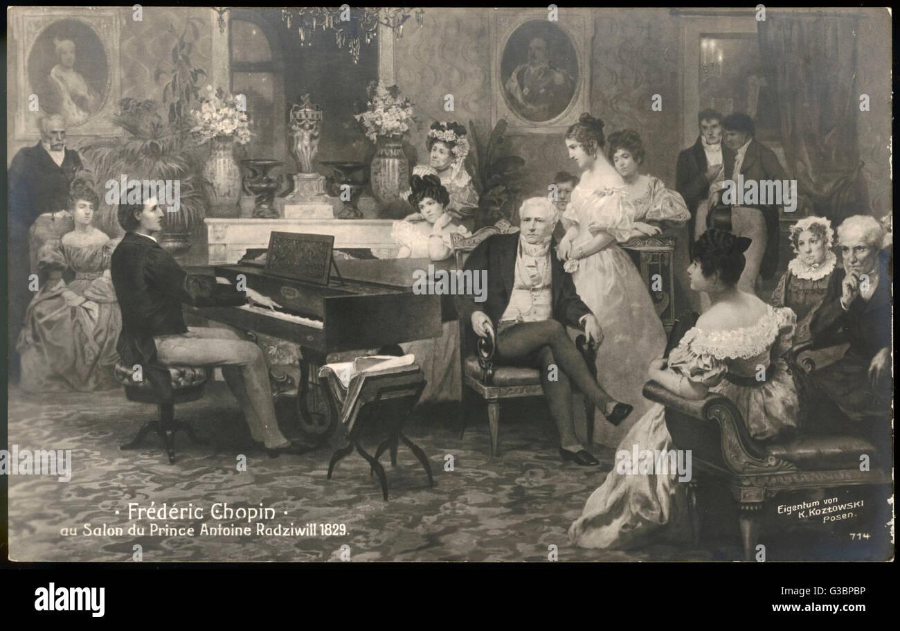 Chopin Playing The Piano Stock S & Chopin Playing The Piano