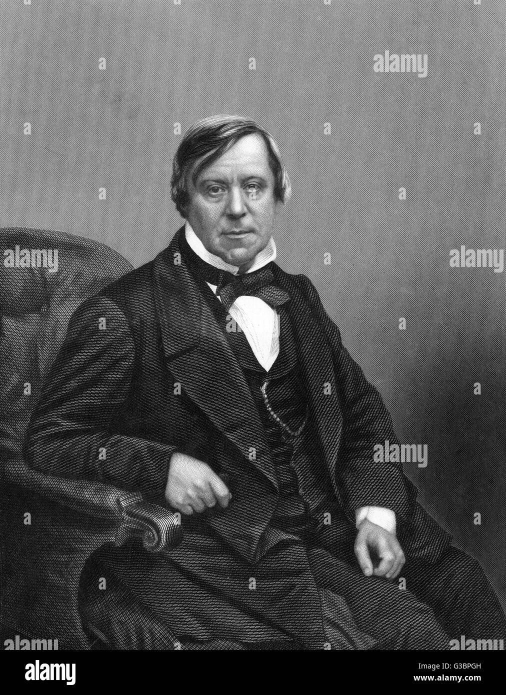 WILLIAM SCHOLEFIELD radical member of parliament,  yet mayor of Birmingham.        Date: 1809 - 1867 - Stock Image