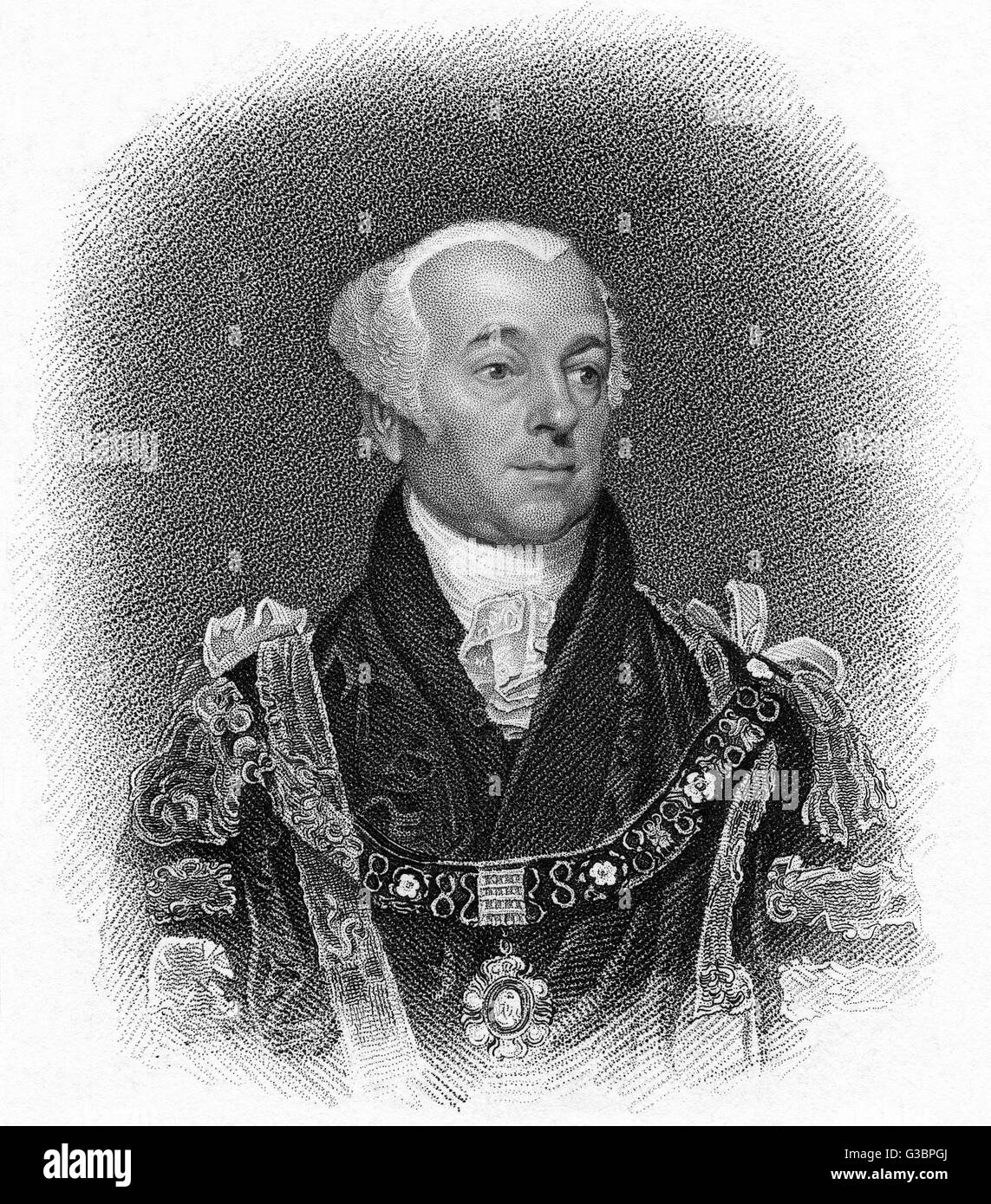 GEORGE SCHOLEY London merchant (presumably),  lord mayor of London in 1815        Date: CIRCA 1815 - Stock Image