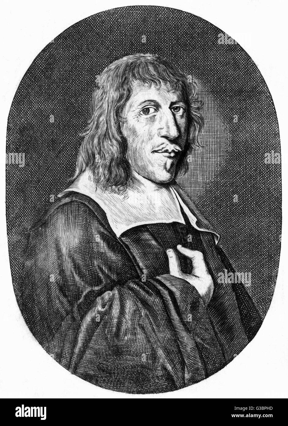 CORNELIUS SCHREVELIUS Dutch classic scholar         Date: 1608 - 1664 - Stock Image