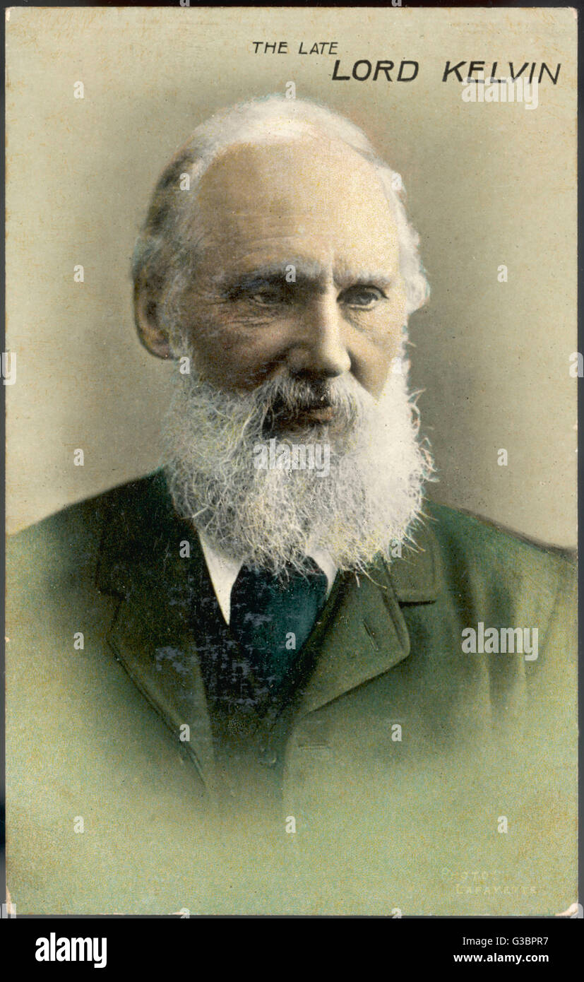 WILLIAM THOMSON, first lord  KELVIN - regarded by his  contemporaries as 'the  greatest scientist of the  age'. - Stock Image