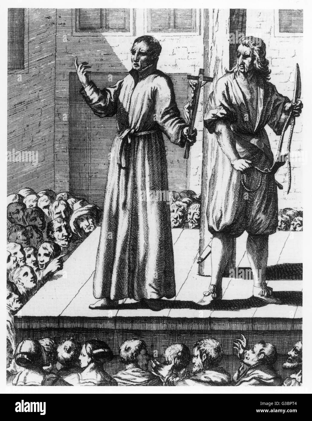 Jesuit priest Henry Garnet is  executed for complicity in the  Gunpowder Plot        Date: 1606 - Stock Image