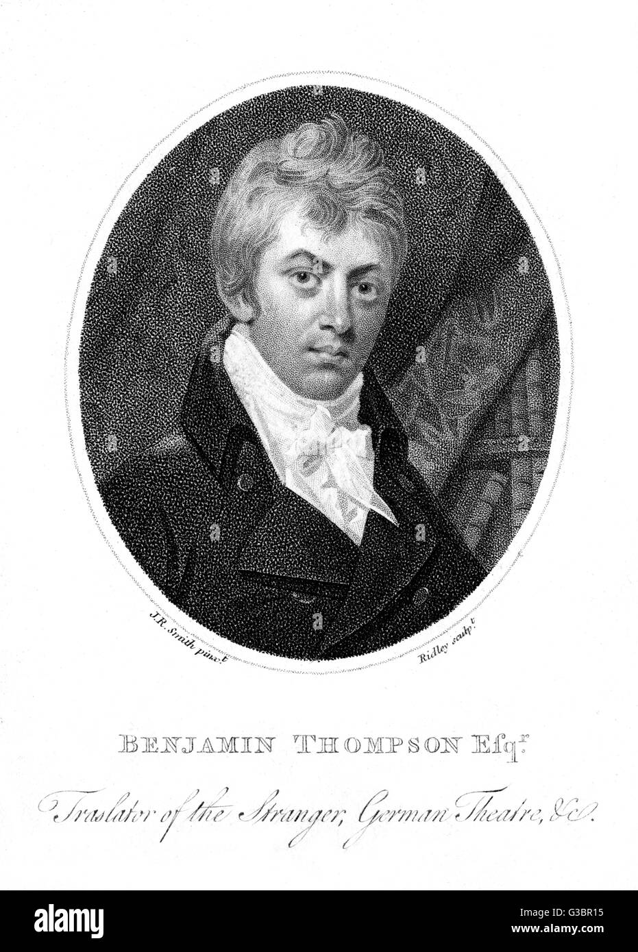 BENJAMIN THOMPSON writer and translator         Date: 1776 - 1816 - Stock Image