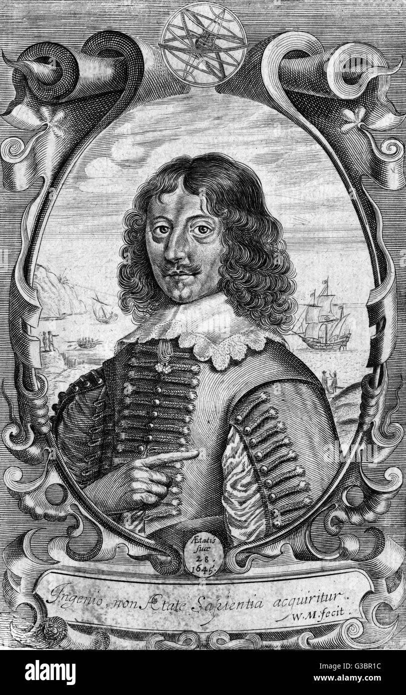 JOHN THOMPSON naval commander         Date: 1617 - ? - Stock Image