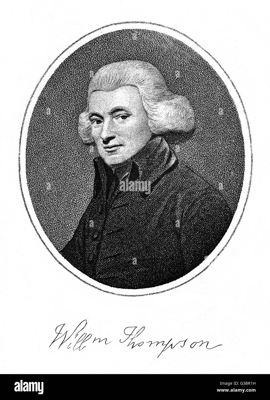 WILLIAM THOMPSON Methodist churchman  with his autograph       Date: 1733 - 1799 - Stock Image