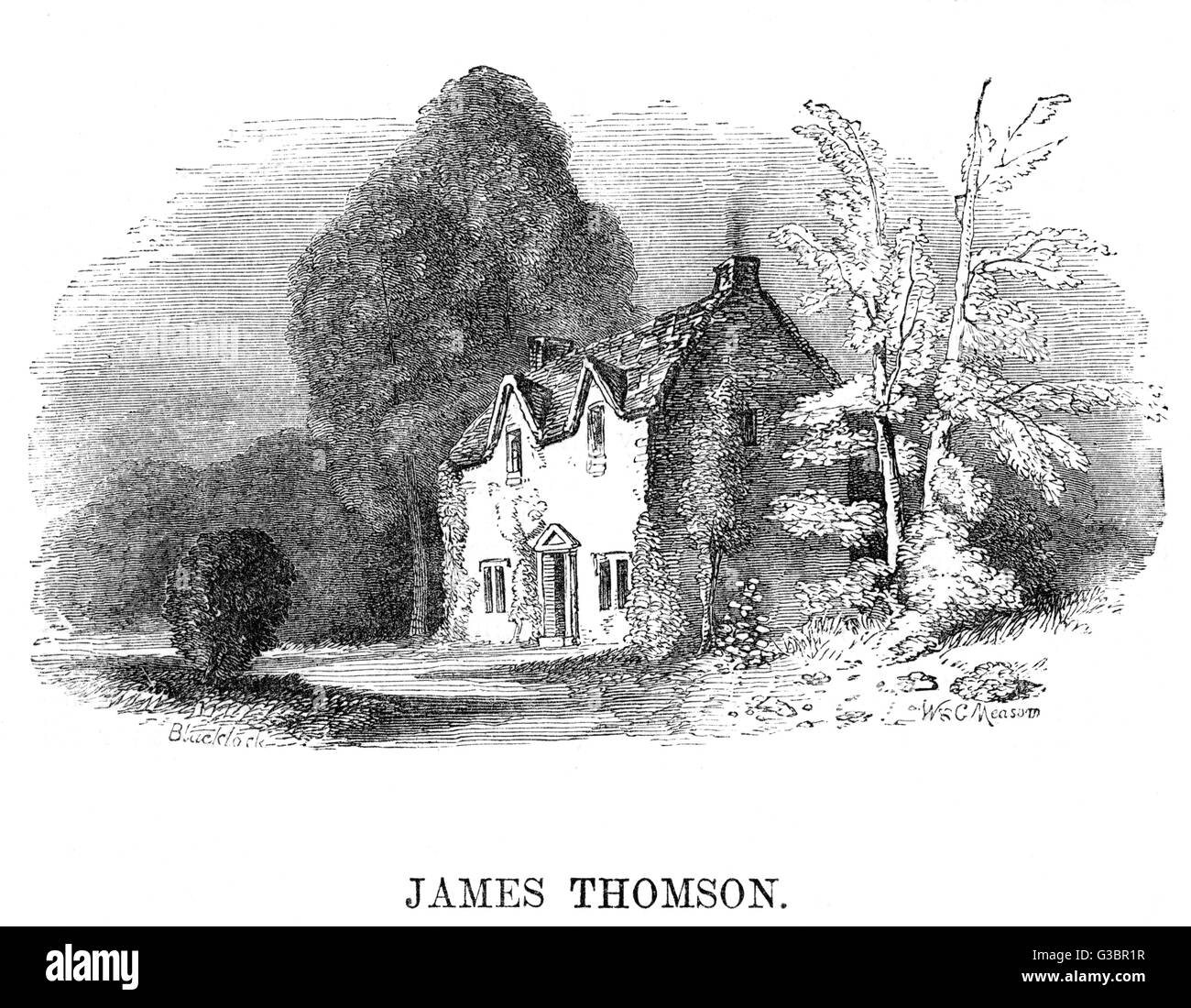 The cottage of the poet James  Thomson in Kew Lane, west  London        Date: 18TH CENTURY - Stock Image