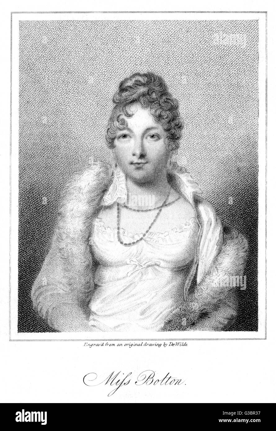 MARY CATHERINE (nee Bolton)  lady THURLOW actress, wife of Edward,  second baron T.       Date: 1790 - 1830 - Stock Image