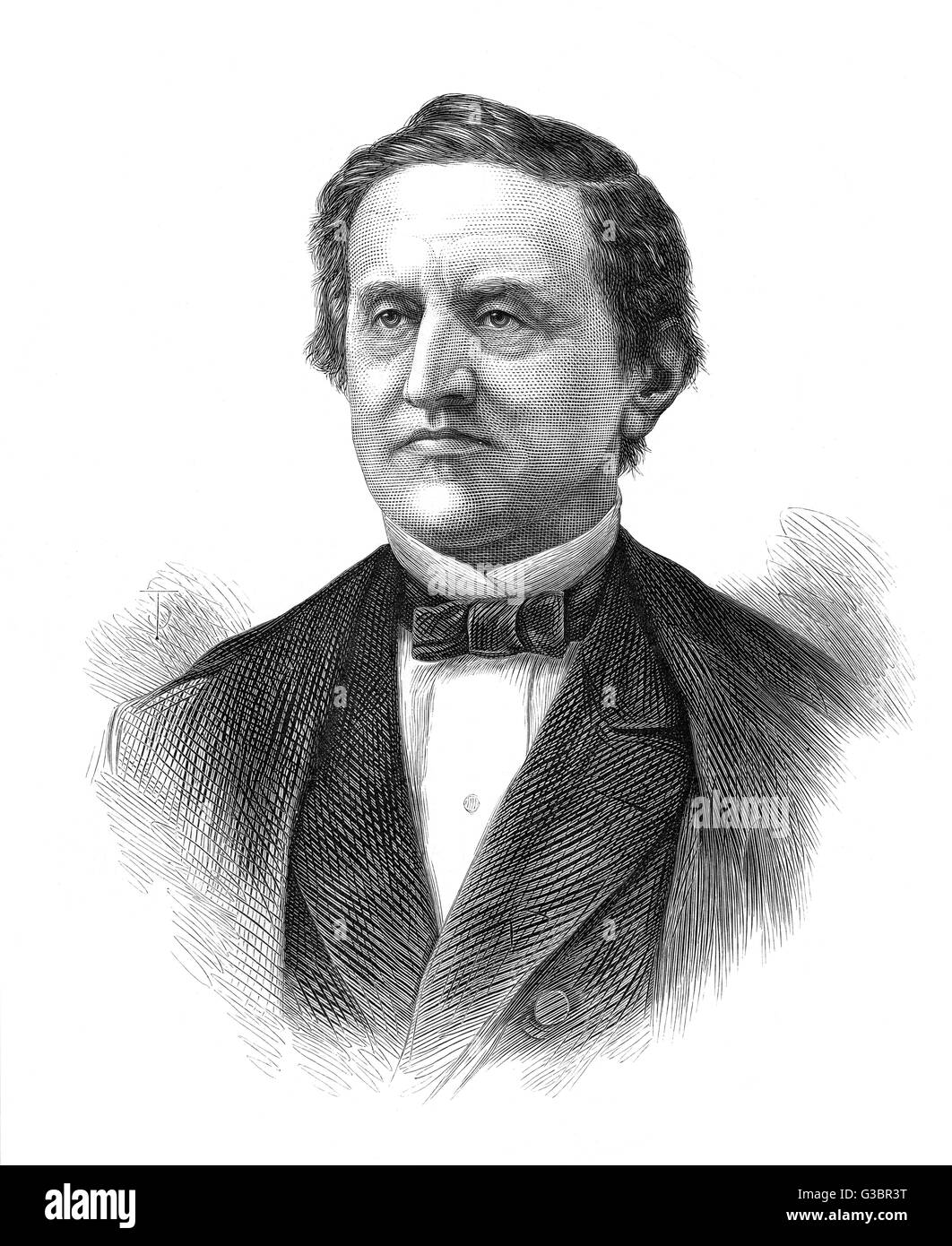 SAMUEL JONES TILDEN American Democrat statesman,  presidential candidate        Date: 1814 - 1886 - Stock Image