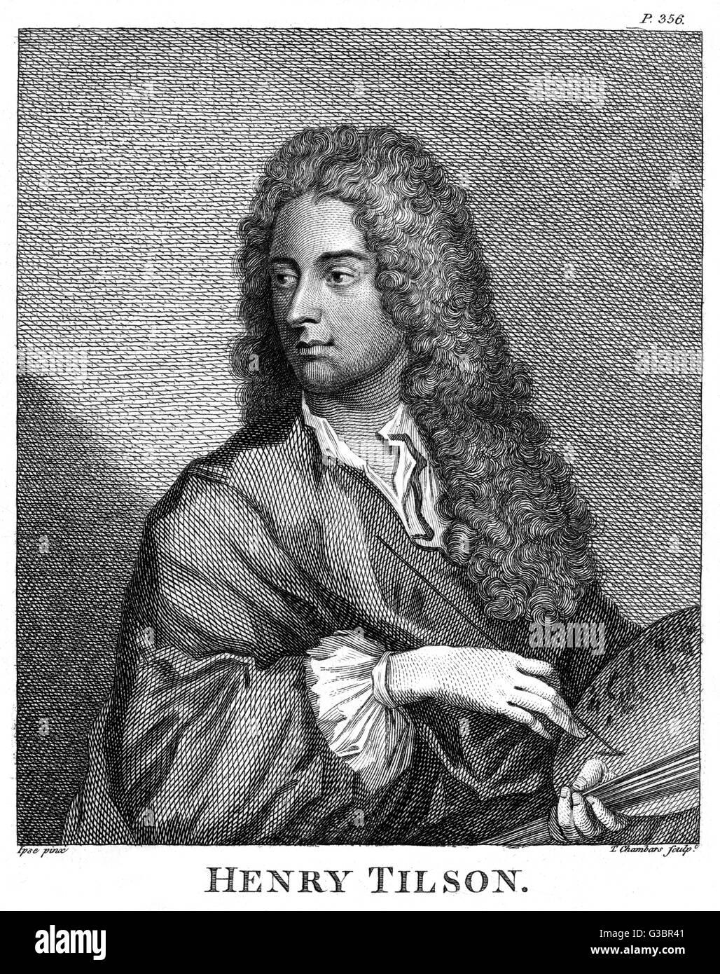 HENRY TILSON artist         Date: 1659 - 1695 - Stock Image