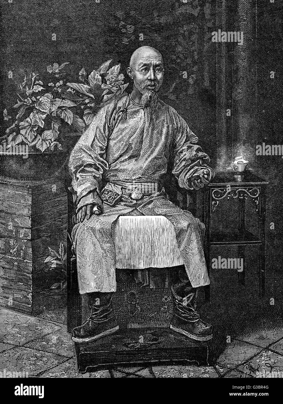 TIN-LIN Chinese administrator,  governor of Canton (now  Guangzhou or Kwangchow)       Date: circa 1860 - Stock Image