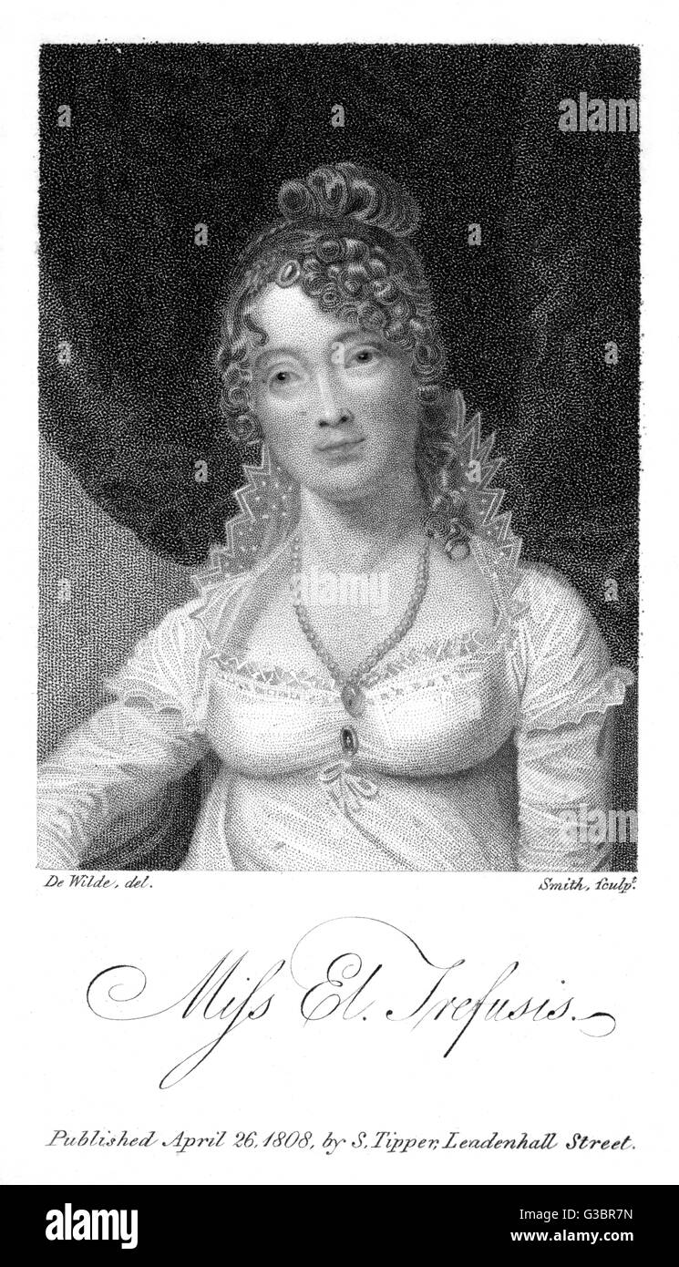 ELIZABETH TREFUSIS writer of poems and tales         Date: ? - 1808 - Stock Image