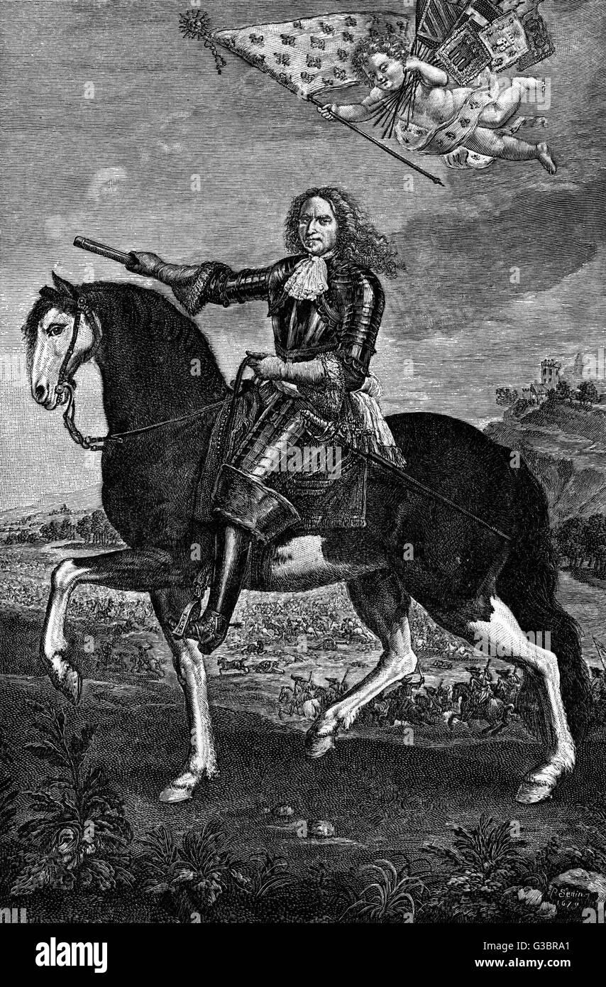 HENRI de la TOUR d'AUVERGNE,  vicomte de TURENNE French military commander,  marechal de France.       Date: - Stock Image