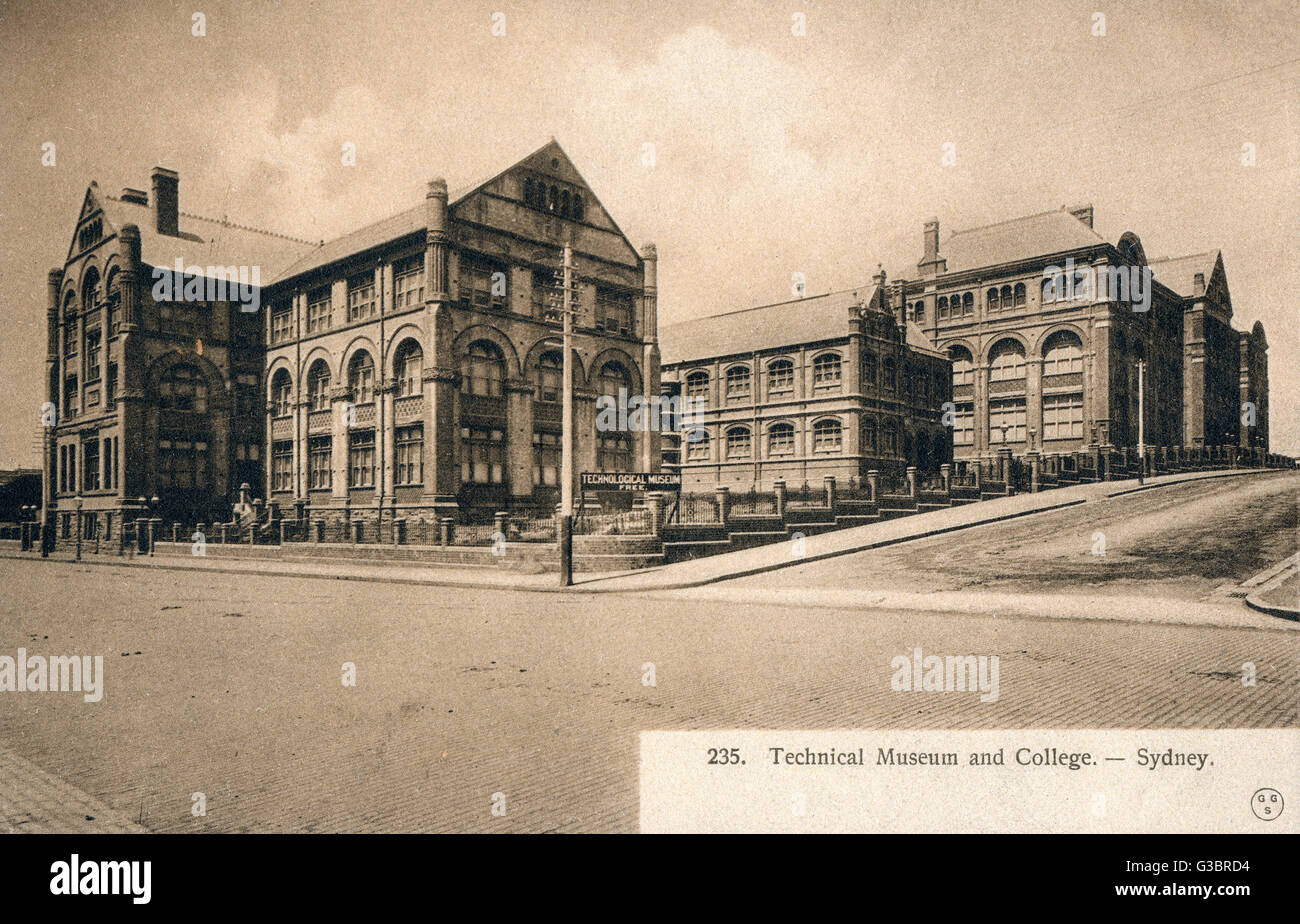 Technical Museum and College - Sydney, Australia     Date: circa 1910 - Stock Image