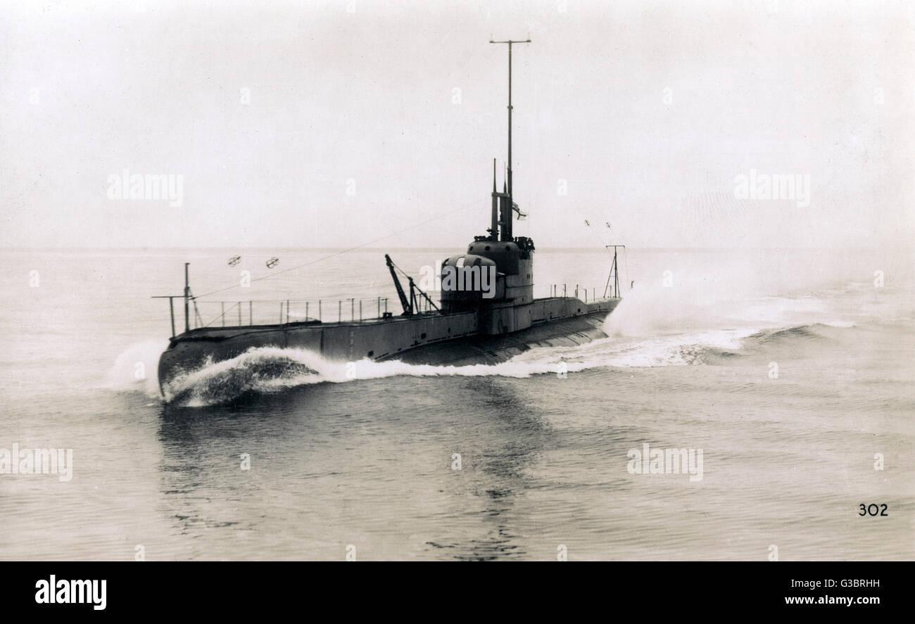 British submarine Rover.      Date: circa 1930s - Stock Image