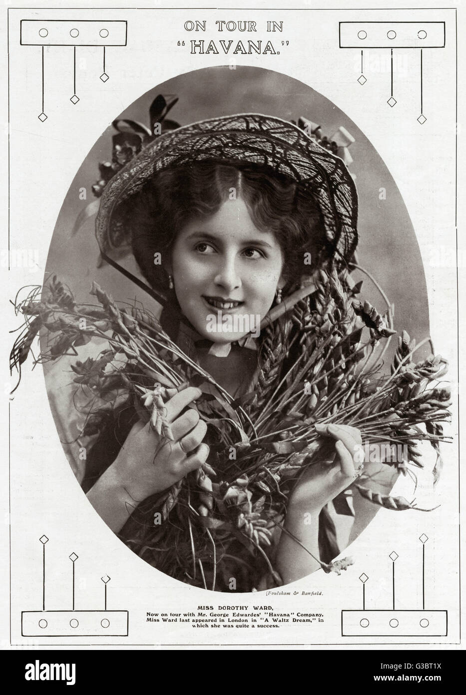 """Dorothy Ward (1890 - 1987) Actress.  Appearing in """"Havana"""".     Date: 1909 - Stock Image"""