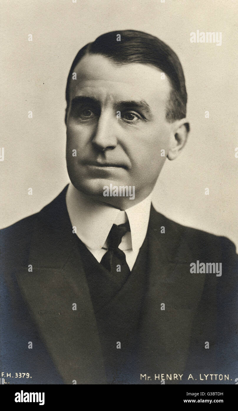 Sir Henry Alfred Lytton (1865-1936), English actor and singer famous for his roles in Gilbert and Sullivan operettas - Stock Image