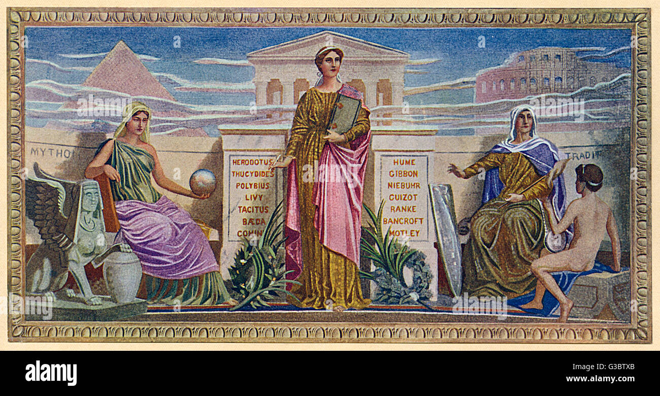 Washington DC, USA - Mural - 'The Mosaic Panels' by Frederick Dielman (1847-1935). Found in the Library - Stock Image