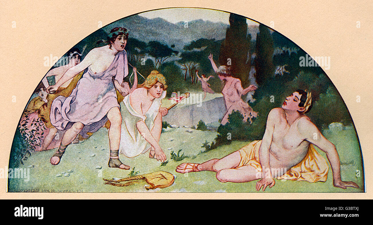 Washington DC, USA - Mural Painting - 'The Greek Heroes' by Walter McEwen (1860-1943). Found in the Library of Congress, Stock Photo