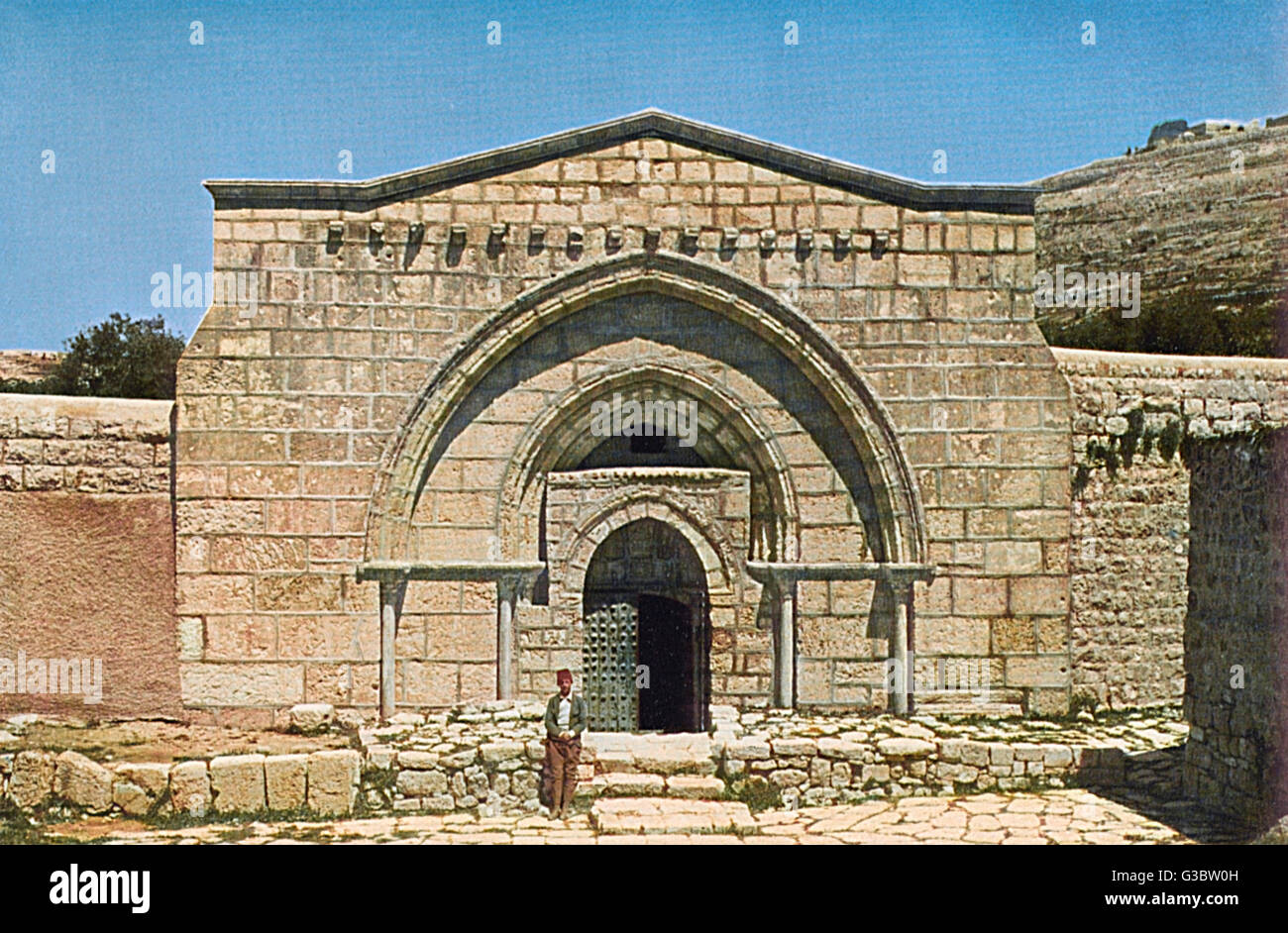 Tomb of the Virgin Mary (Church of the Sepulchre of Saint Mary), in the Kidron Valley, Jerusalem, built in the 12th Stock Photo