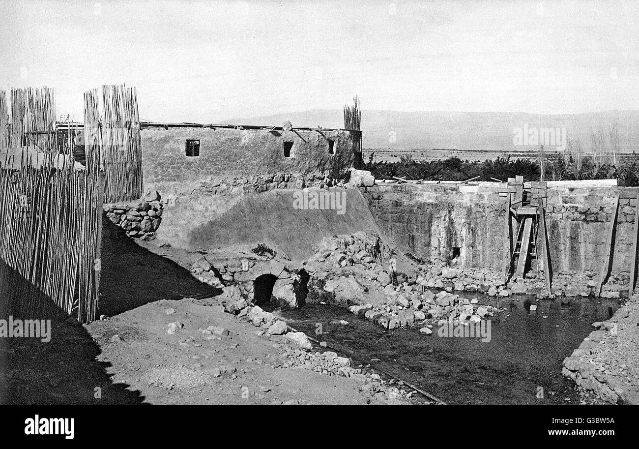 Elisha's Spring (also known as Ain es Sultan, the Sultan's Spring), Jericho, West Bank.  According to biblical - Stock Image