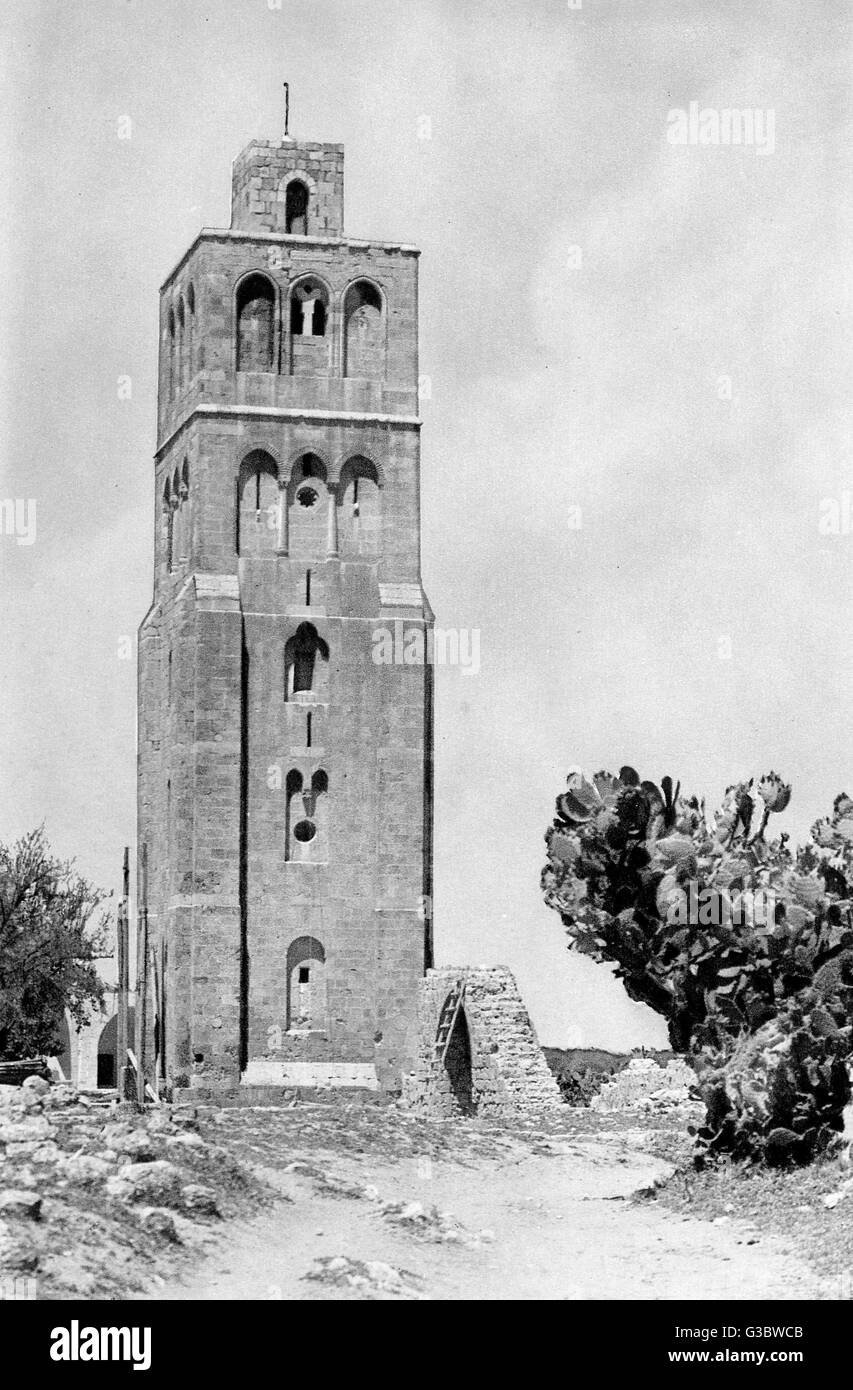 Medieval tower (13th century) from the time of the Crusaders, Ramla, Western Israel.  It is known as the Tower of - Stock Image