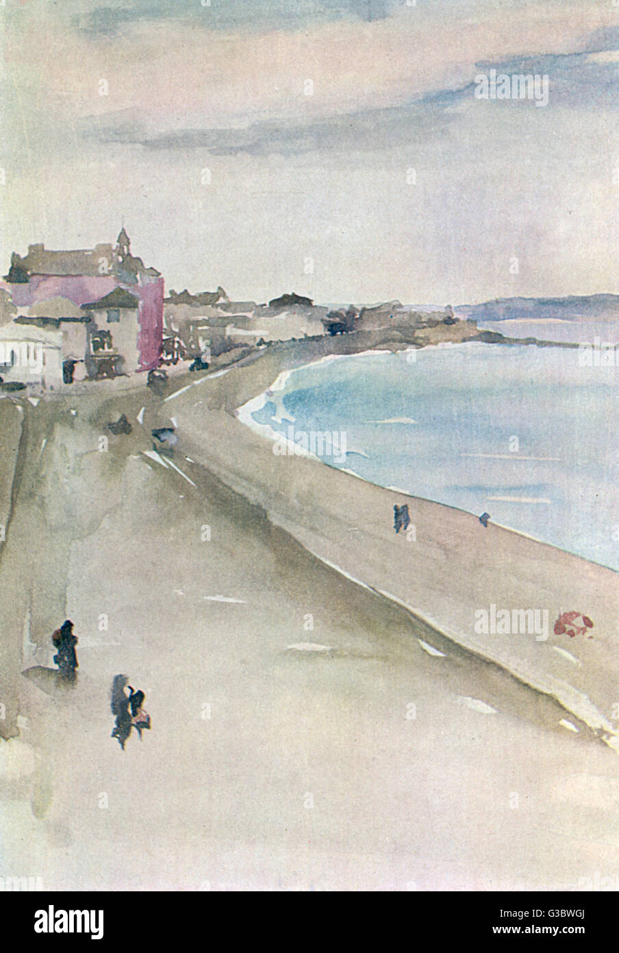 A watercolour study of St Ives, Cornwall by James Abbott McNeill Whistler (1834-1903).     Date: 1905 - Stock Image