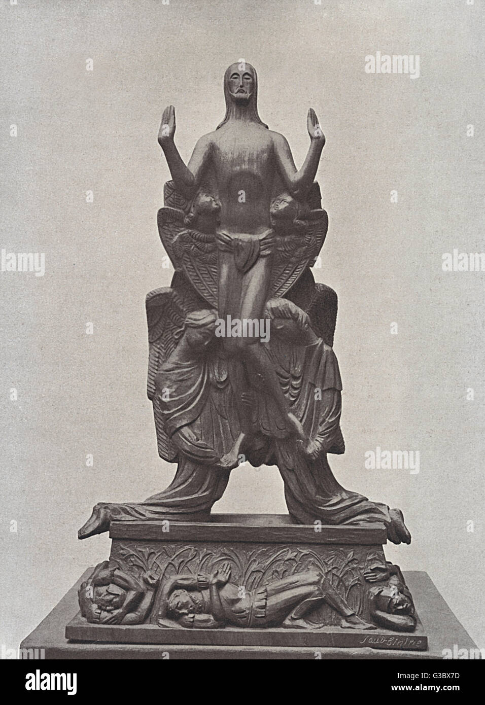Sculpture, Resurrection, by Seraphine Soudbinine, Russian artist. Date:  early 20th century