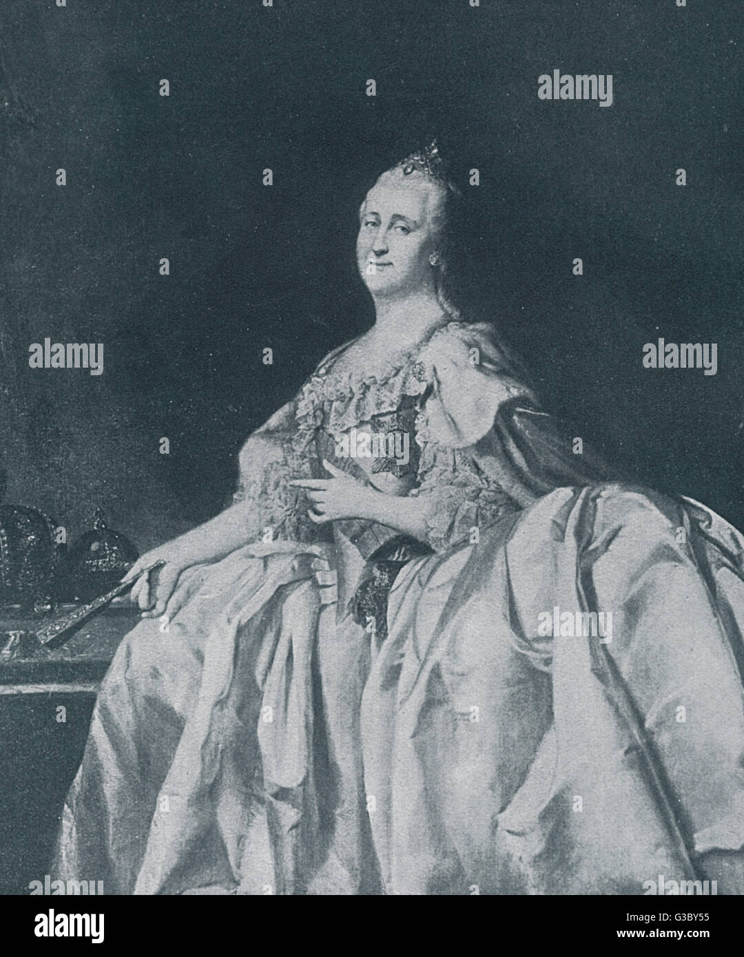 Yekaterina Alexeevna or Catherine II, also known as Catherine the Great of Russia (1729-1796, reigned 1762-1796).      Date: 18th century Stock Photo