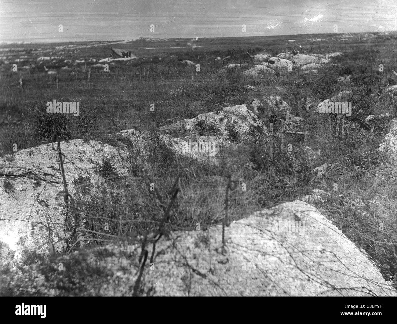 WW1 - No Man's Land as seen in 1920     Date: 1920 - Stock Image