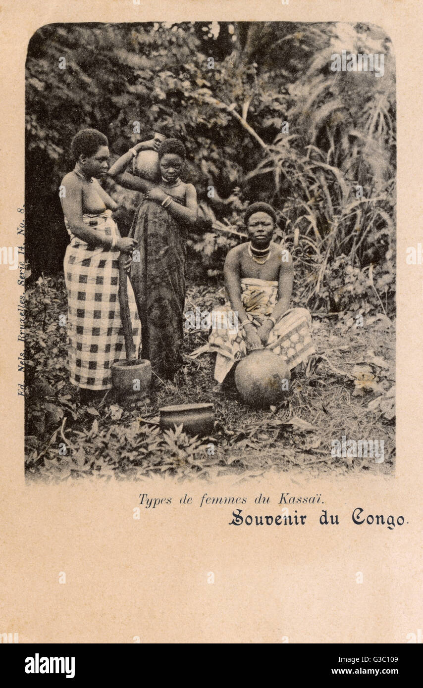 Democratic Republic of Congo - Women from Kasai.     Date: circa 1901 - Stock Image
