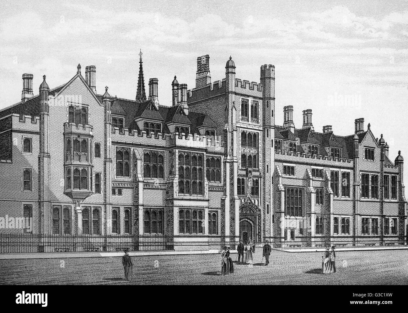 The Church House, Westminster, (view of front in Dean's Yard) London     Date: circa 1885 - Stock Image