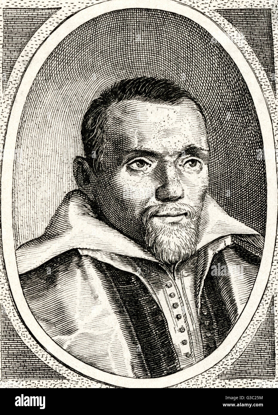 Daniel Heinsius (1580-1655) - Dutch librarian, statesman, and was one of the most famous scholars of the Dutch Renaissance. - Stock Image