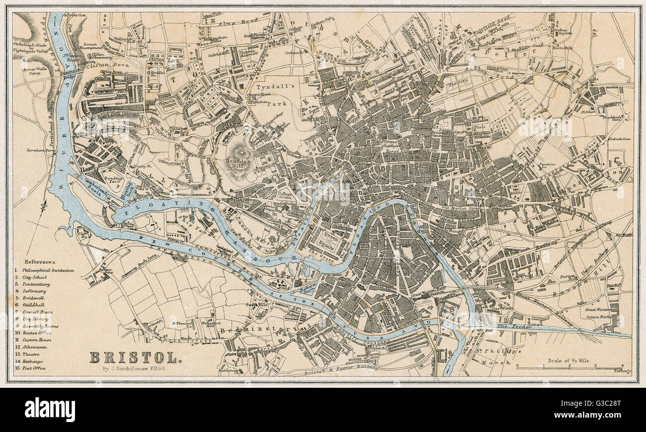 A map of Bristol in 1878 Date