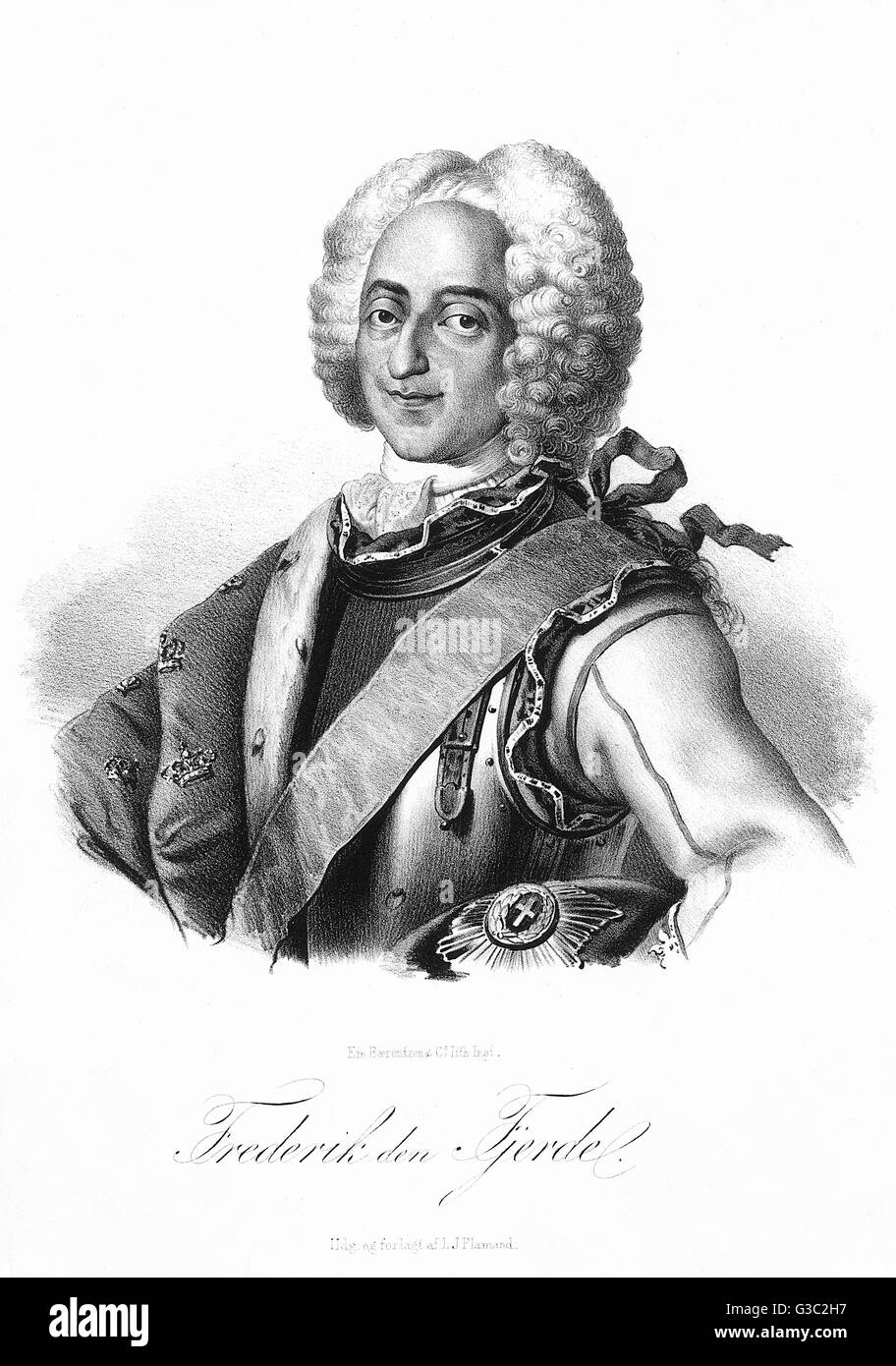 Frederick IV of Denmark (1671-1730). King of Denmark and Norway from 1699 until his death.     Date: C.1720 - Stock Image